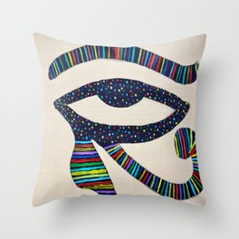 The Eye of Horus Throw Pillow