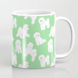 Bichon Frise Pattern (Green Background) Coffee Mug