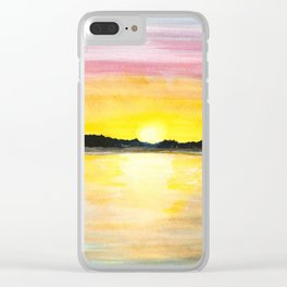 Lakeshore View Clear iPhone Case