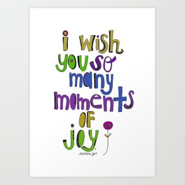 Moments of Joy. Art Print