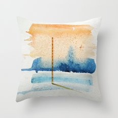 waxing crescent.two Throw Pillow