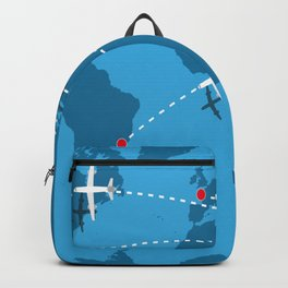 map of the world with flags  Backpack