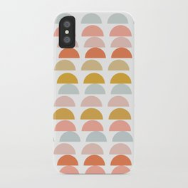 Geometric Half Circles Pattern in Earth Tones iPhone Case