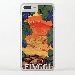 Vintage Italian travel Fiuggi springs Clear iPhone Case