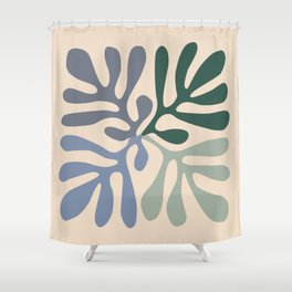 Matisse cutouts abstract drawing, Shower Curtain