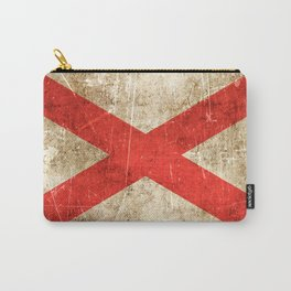 Vintage Aged and Scratched Alabama Flag Carry-All Pouch