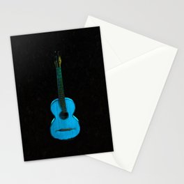 Blue Guitar Music Music Lover Instrument Stationery Cards