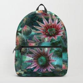 Succulents Flower Garden Backpack