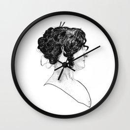 Victorian Era - Beautiful Woman - Portrait - Stippling - 1898 Wall Clock