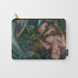 Level 12, Fathom 10: Mermaid Playing Video Games Carry-All Pouch