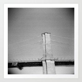 Brooklyn Bridge 02, Holga Art Print