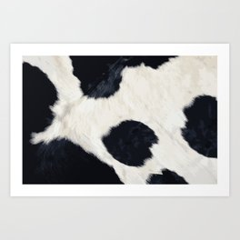 Cow Skin Art Print