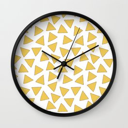 NACHOS NACHO CHIPS FAST FOOD PATTERN Wall Clock