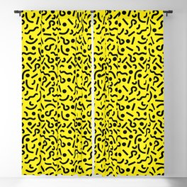 squiggly 80s gold Blackout Curtain