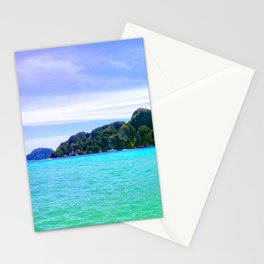 Emerald Beach in PhiPhi Island Stationery Cards