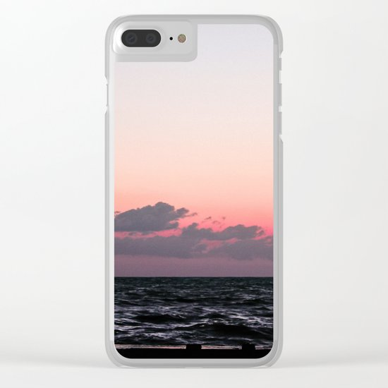 Ocean #sunset Clear iPhone Case
