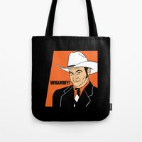 will ferrell Tote Bags featuring Whammy! - Champ Kind by Buby87