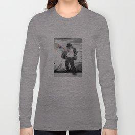 Graffiti Superpowers - Black & White Long Sleeve T-shirt