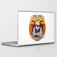 marx Laptop & iPad Skins featuring Karl Marx Hipster by Ferguccio