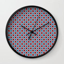 Descending Square Pixel Print Wall Clock
