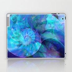Blue Nautilus Shell  - Seashell Art By Sharon Cummings Laptop & iPad Skin