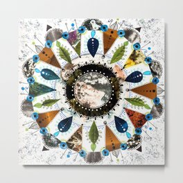 Earth Mandala Metal Print