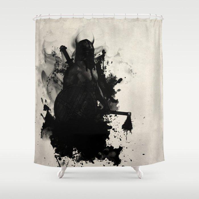 Viking Shower Curtain By Nicklasgustafsson