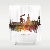 poland Shower Curtains featuring Cracow Poland by jbjart