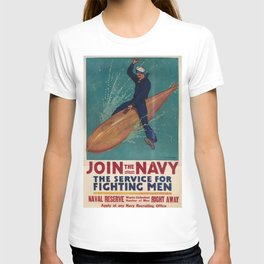 Vintage poster - Join the Navy T-shirt