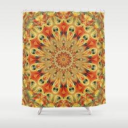 Flower Of Life Mandala (Grounded Nature) Shower Curtain