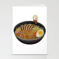 ramen Stationery Cards featuring Thranduil Ramen by Sabinzie