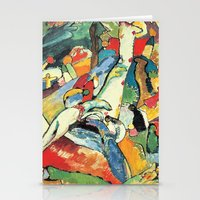 "kandinsky Stationery Cards featuring Vasily Kandinsky Sketch for ""Composition II"" by Artlala for MSF Doctors Without Borders"