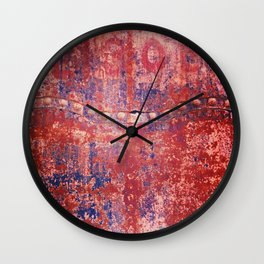 Surface eaten away by rust Wall Clock