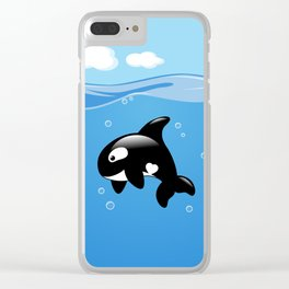 Orca, Cute Killer Whale Clear iPhone Case