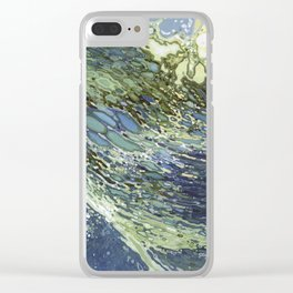Ebb and Flow Ocean Waves Clear iPhone Case