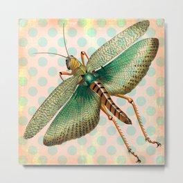Polka Dot Grasshopper Metal Print