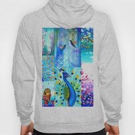 Aqua collage Hoody