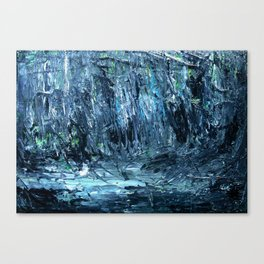 A Clearing Through The Swamp Acrylics On Stretched Canvas  Canvas Print