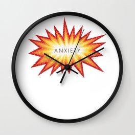 Anxiety Attack Wall Clock