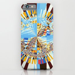 Midday sun on a mountain top iPhone Case
