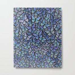 blue Hera butterflies aflutter Metal Print