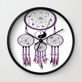 Yin-Yang dream catcher Wall Clock