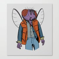mcfly Canvas Prints featuring Hello McFly! by mattographer
