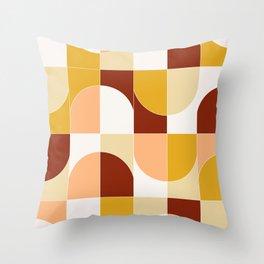 Bold Geo Tiles 03 Throw Pillow