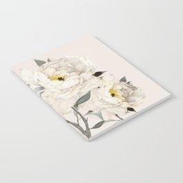 White Peonies Notebook