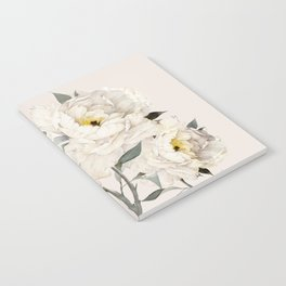 White Peonies Notebook