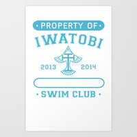 iwatobi Art Prints featuring Free! Iwatobi Swim Club - Athletic  by Cup of June