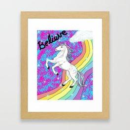 Believe (Unicorn) Framed Art Print