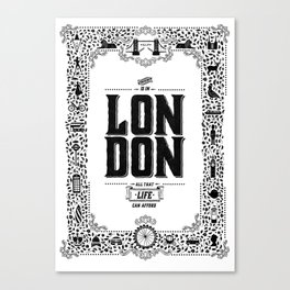 London decorative border illustration Canvas Print