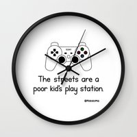 playstation Wall Clocks featuring PlayStation by Mokokoma Mokhonoana